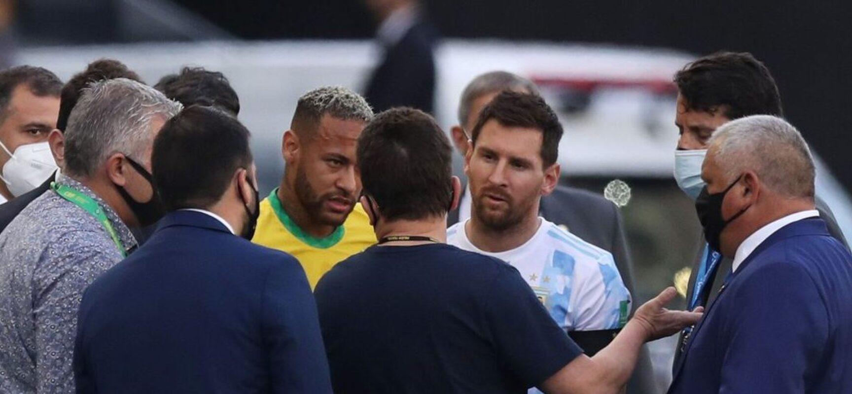 Anvisa paralisa jogo entre Brasil e Argentina; partida é encerrada