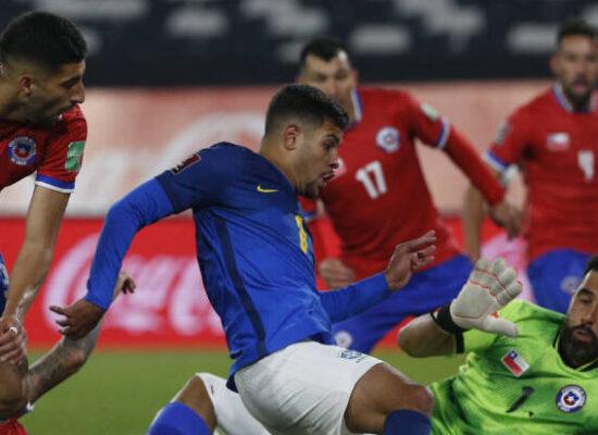 Com gol de Everton Ribeiro, Brasil vence o Chile e mantém os 100% nas Eliminatórias