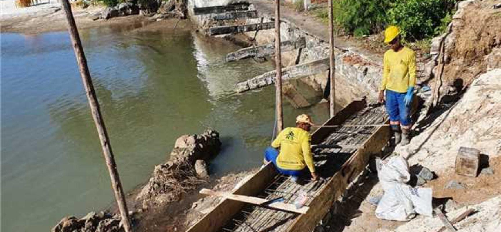 Ilhéus: iniciado reparo da ponte sobre o Rio Cururupe
