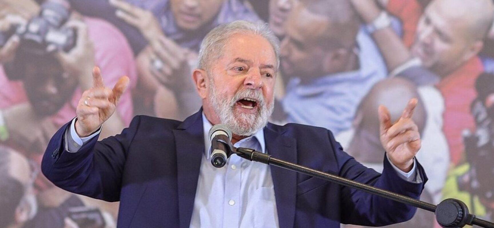 Lula diz que Bolsonaro estimula o confronto em vez de propor soluções para o Brasil