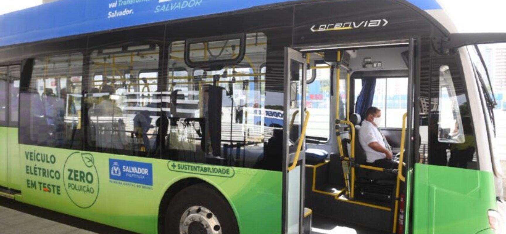 Ônibus elétricos passarão por testes em Salvador durante o mês de setembro