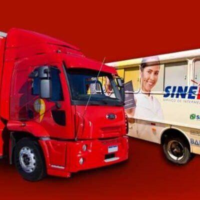 Cadastro de intermediação de emprego e diversas ações acontecem sábado com Caminhão das Profissões
