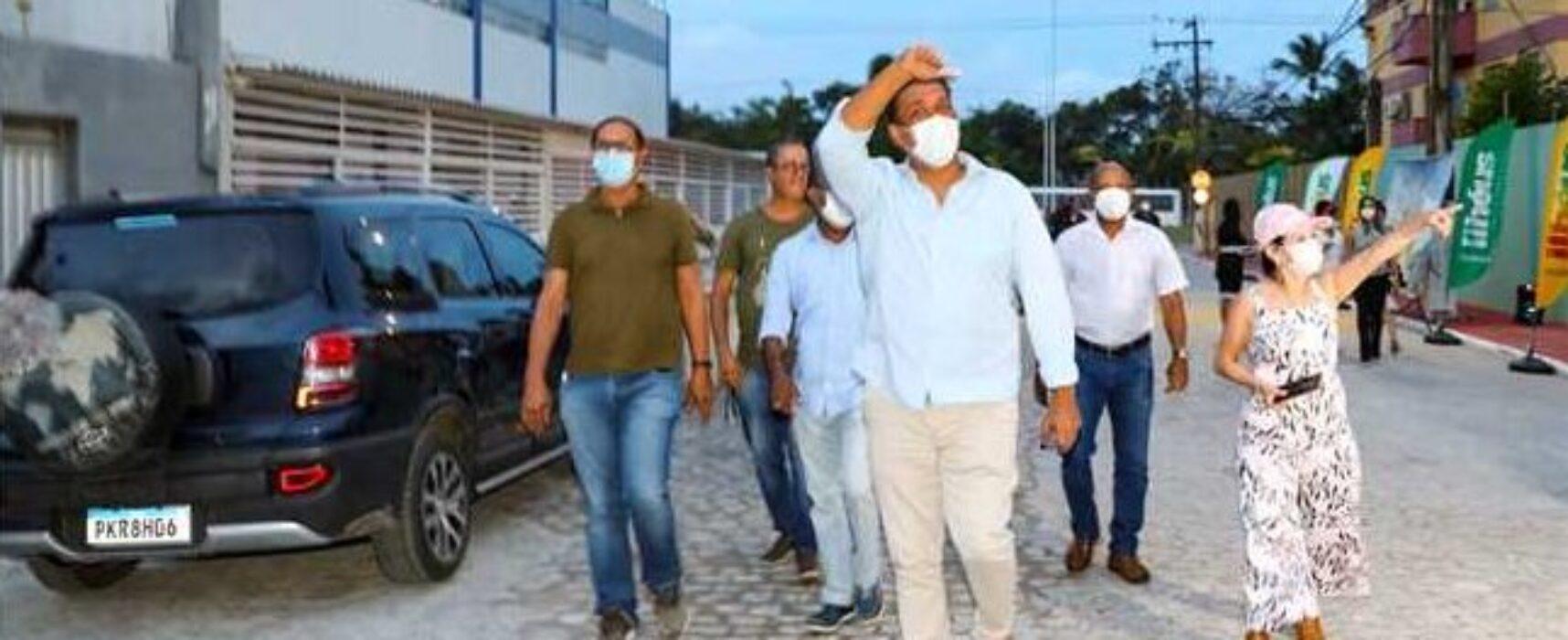 Prefeitura inaugura Obra de pavimentação da Rua das Oliveiras na Zona Sul